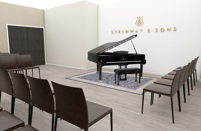 Historic Architectural Interior Design steinway grand piano
