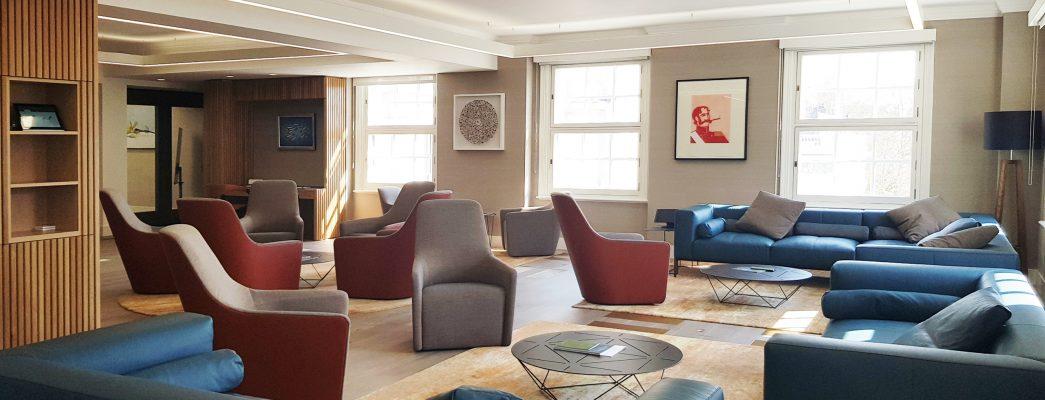 client space design interiors lounge